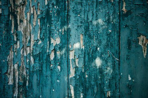 Texture, Peeling Paint, Background, Wood, Blue-green