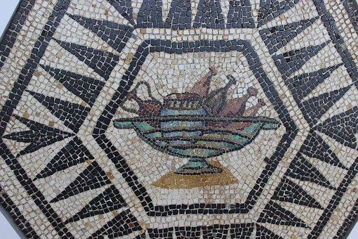 Mosaic, Rome, Vestige, Archaeology, Meals, Antique