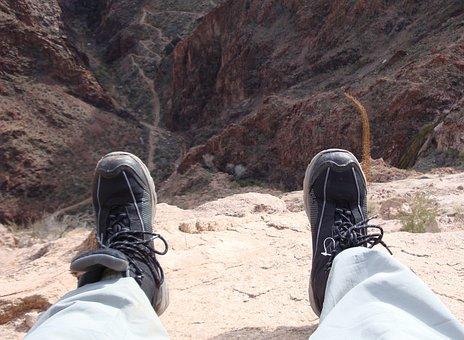 Grand Canyon, Vista, Overlook, Feet, View, Steep