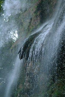 Waterfall, Urach Waterfall, Water Veil, Water