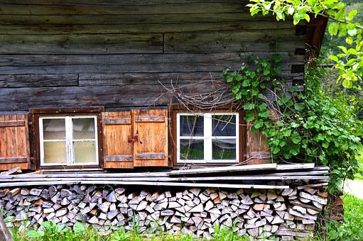 Mountain Hut, Window, Wood, Alm, Hut, Nature