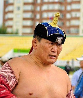 Wrestler, Mongolian, Man, Ethnicity, Traditional