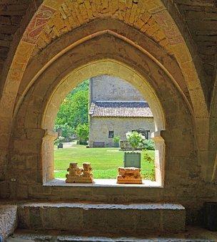 Abbey, Old Stone, Old Church, Tarn And Garonne, Church