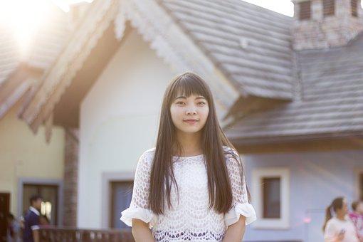 Portrait, Beautiful, Small Fresh, Beauty, Woman, Asia