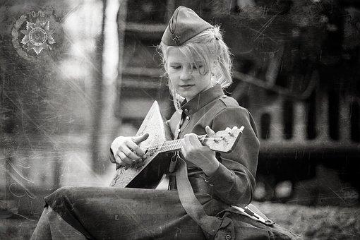 Girl, Balolajka, Victory Day, 9maâ, George's Ribbon