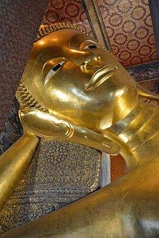Thailand, Bangkok, Reclining Buddha