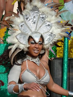 Carnival, Parade, Dancer, Beautiful Woman, Feathers
