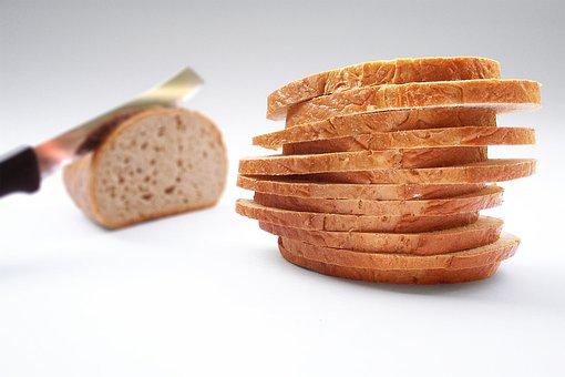 Bread, Slice Of Bread, Knife, Cut