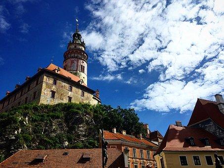 Czech Republic, Cesky Krumlov, Europe, Czech, Town