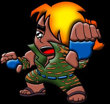Artist, Cartoon, Comic Characters, Fighter, Karate