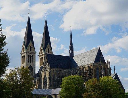Dom, Church, Halberstadt, Germany, Romanesque, Building