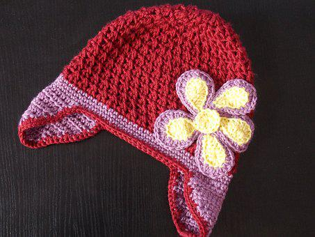 Caps, Winter, Handmade, Girl, Knitting