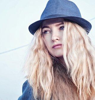 Girl, Portrait, Figure, Hat, Person, Eyes, Photoshoot