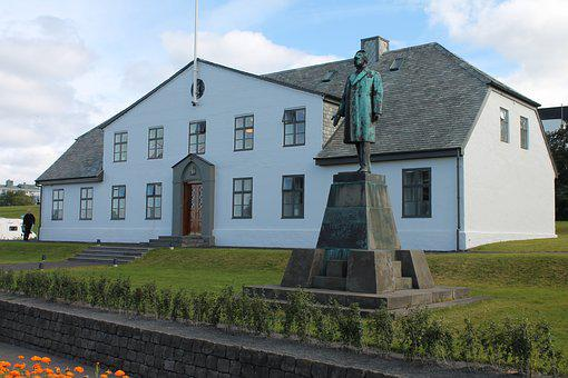 Iceland, Colorful, Reykjavik, Blue, Church, Building