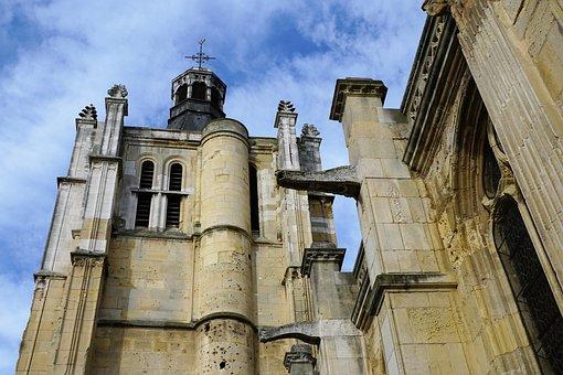 Church, Le Havre, France, Sky, Facade, Faith