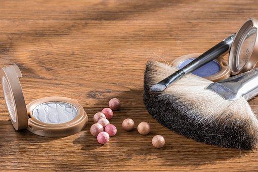 Makeup, Cosmetics, Powder In The Balls, Cosmetic Brush