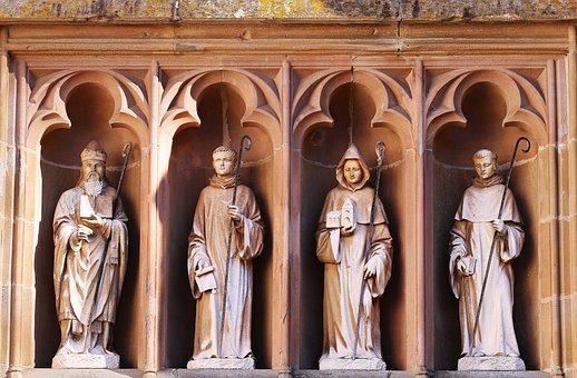 Figurengruppe, Stone Figures, Mariawald, Monastery