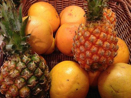 Fruit, Pineapple, Orange, Citrus, Vitamins, Market