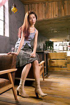 Woman, Model, Asia, Young, Long Hair, Sat, Fashion