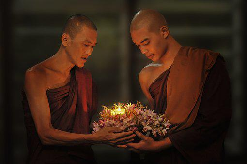 Theravada Buddhism, Monks, Passing Candle