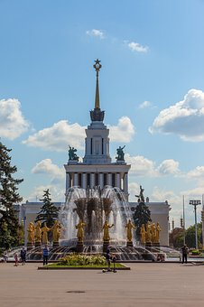 Moscow, Enea, Pavilion, Peoples' Friendship Fountain