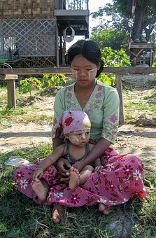 East, Burma, Mother, Child, Local, People, Young