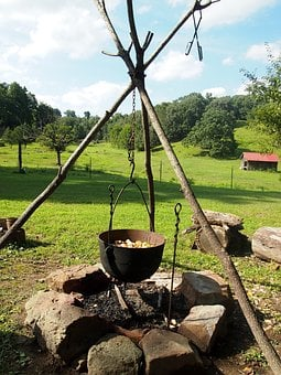 Fire, Campfire, Rustic, Firewood, Nature, Camp, Bonfire