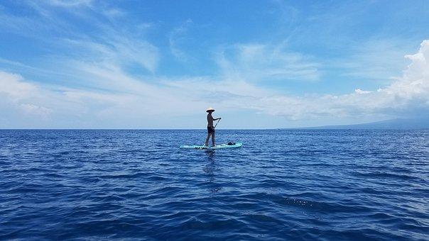 Ocean, Paddle Board, Gilli Island, Outdoor, Holiday
