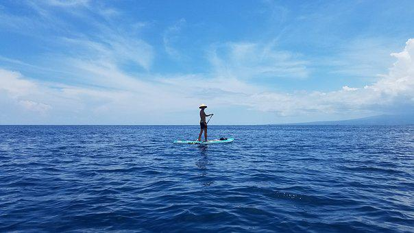 Ocean, Paddle Board, Gilli Island, Outdoor, Holiday