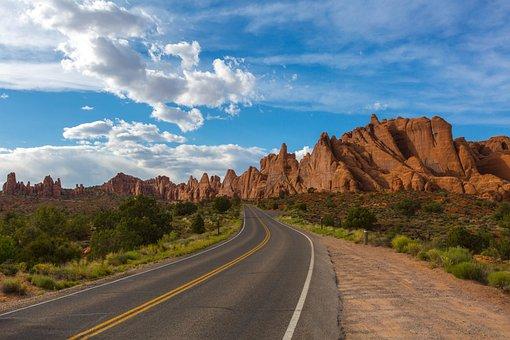 Road, Utah, Park, Usa, Landscape, Travel, Nature