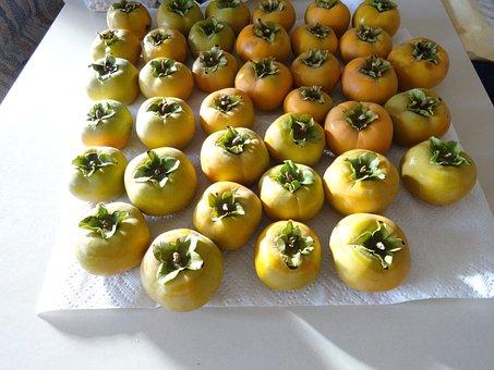 Persimmons, Fruit, Tropical, Fresh, Healthy, Juicy