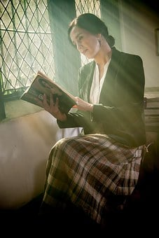 Women, Reading, Read, Person, Peace, Serenity, Books