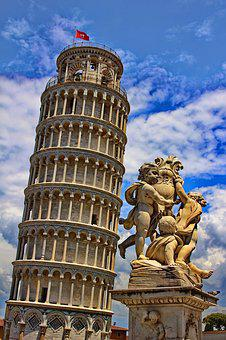 Pisa, Tower, Leaning Tower, Italy, Tuscany, Building
