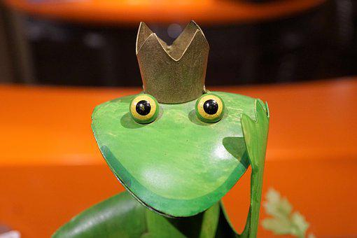 Frog, King, Green, Figure, Märchem, Prince, Eyes, Head
