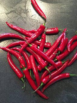 Chilli, Red, Sharp, Eat, Pepper Crop, Red Pepper, Pods