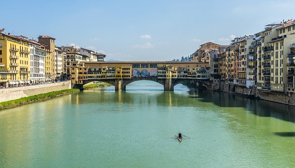 Europe, Italy, Florence, Firenze, Tuscany, River, Arno