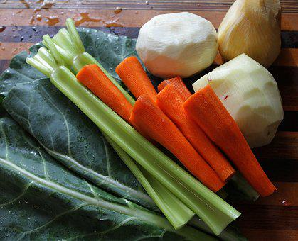 Root Vegetables, Collard Greens, Celery, Carrots