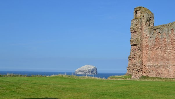 Scotland, Tantallon, Bass Rock, Historic, Castle