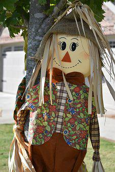 Fall, Scarecrow, Decoration, Autumn, Smile, Harvest