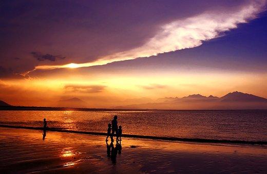 Sunset, Sundown, Da Nang Bay, Danang City, Vietnam