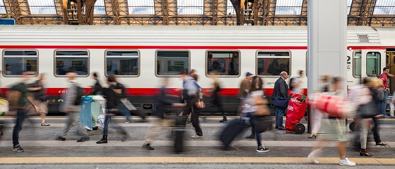 Train, Milan, Railway Station, Human, Seemed, Transport