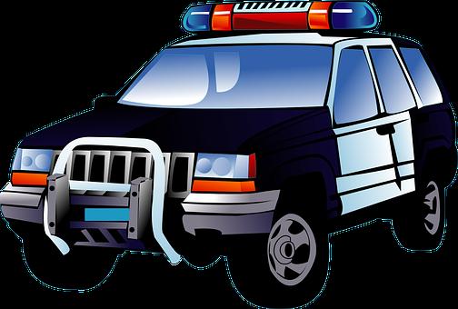 Police, Car, Black, Transportation, Lights, Emergency