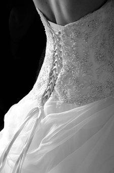 Wedding, Wedding Dress, White Dress, Dress, Woman