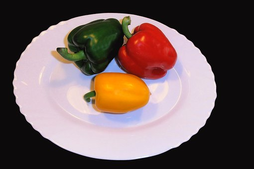 Paprika, Sweet Peppers, Red, Yellow, Green
