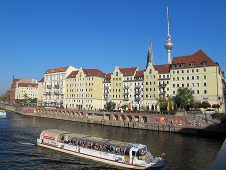 Berlin, Alex, Nikolaiviertel, Ship, Alexander Tower