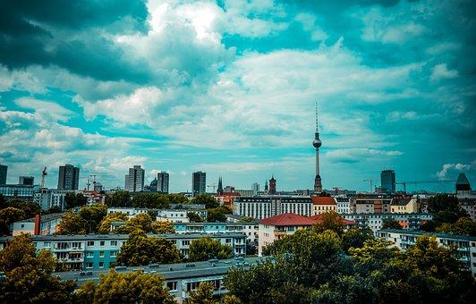 Berlin, Tv Tower, Nikolaiviertel, Dom, Alexanderplatz