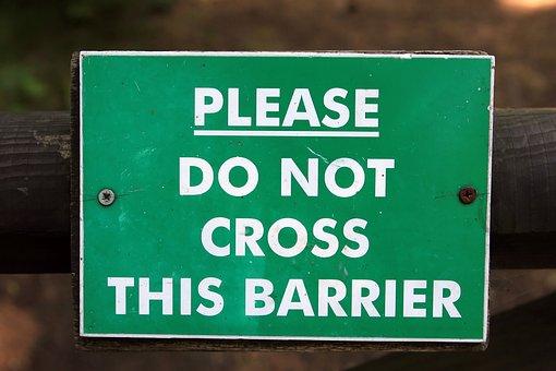 Ad, Announce, Announcement, Barrier, Cross, Danger
