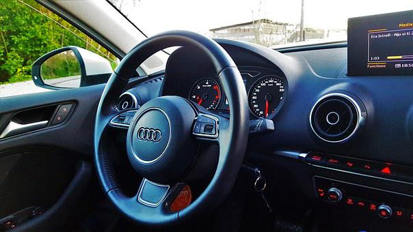 Audi, A3, Interior, Auto, Vehicle, Car, Automobile