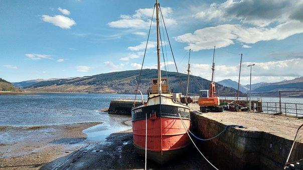 Loch, Awe, Boat, Sea, Ship, Pier, Bay