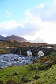 Isle Of Skye, Bridge, Peace, Stream, River, Nature